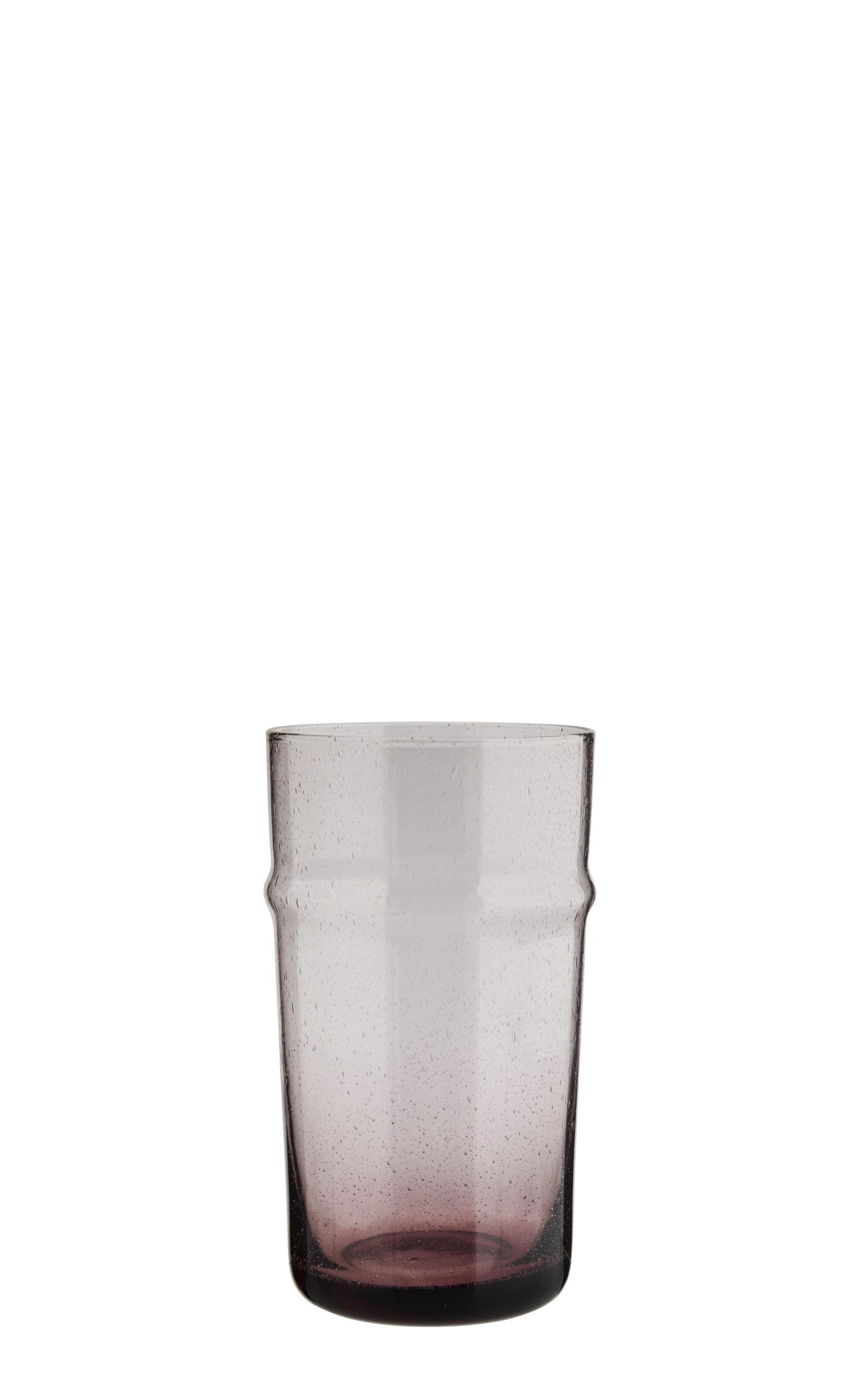 Verre à boire en verre recyclé pourpre * Madam Stoltz