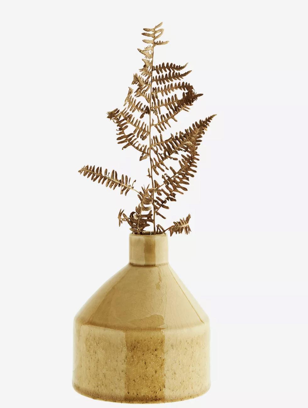 Vase large soliflore en céramique caramel * Madam Stoltz