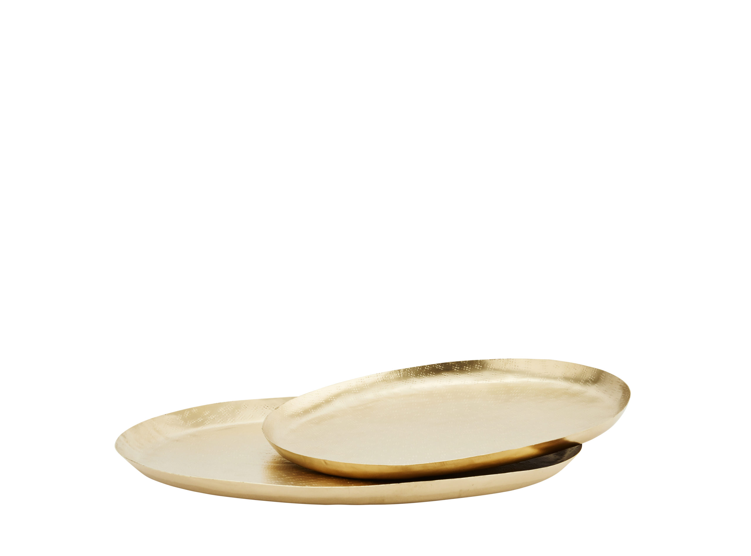 Plateau décoratif ovale en métal doré - 2 tailles * Madam Stoltz