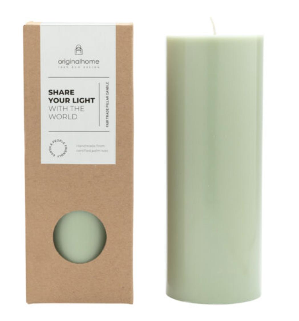 Bougie cylindrique vert sauge * Original Home